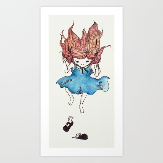 Shoeless Art Print