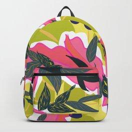 Fibonacci Pink Leaves Backpack