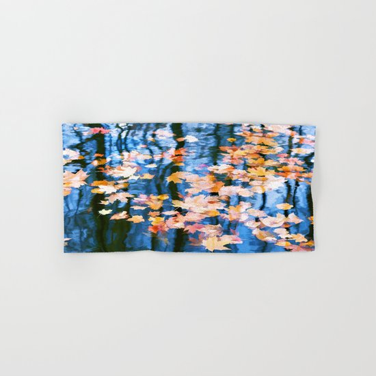Fallen leaves in water Hand & Bath Towel