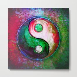 Yin Yang - Colorful Painting VII Metal Print