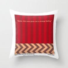 No169 My Twin Peaks minimal movie poster Throw Pillow