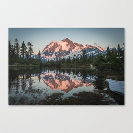 Cascade Sunset - Mt. Shuksan - Nature Photography Canvas Print