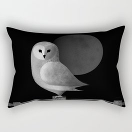 Barn Owl Full Moon Rectangular Pillow