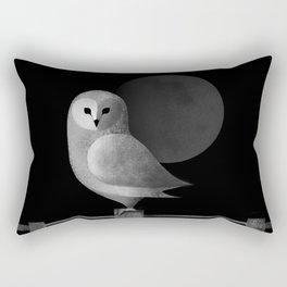 Barn Owl Full Moon Rectangular Pillow