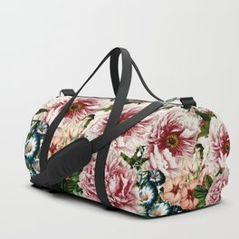 Vintage Peony and Ipomea Pattern - Smelling Dreams Duffle Bag