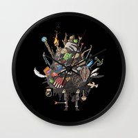 skyrim Wall Clocks featuring Let me guess, someone stole your sweetroll by Fightstacy