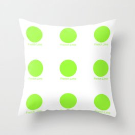 French Lime Throw Pillow