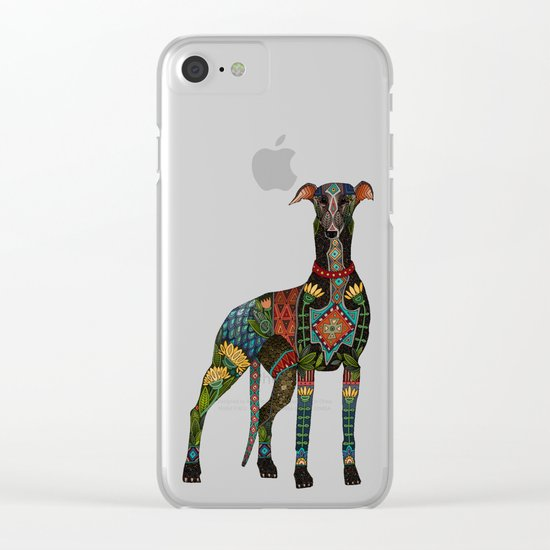 greyhound orange Clear iPhone Case