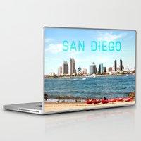 san diego Laptop & iPad Skins featuring San Diego  by Natasha Alexandra Englehardt