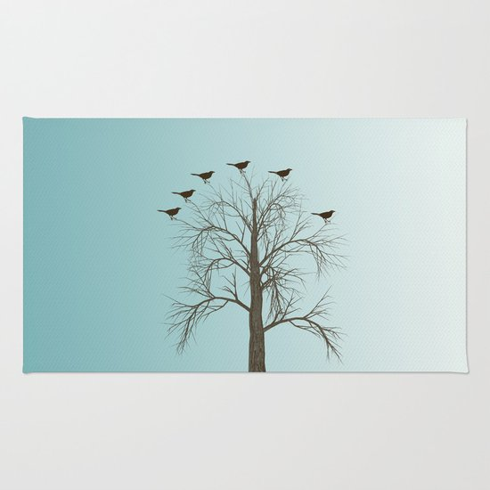 Tree with Birds Rug
