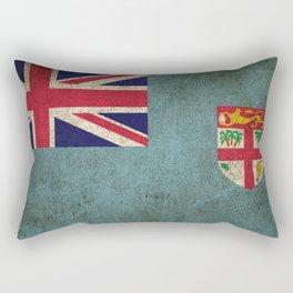 Old and Worn Distressed Vintage Flag of Fiji Rectangular Pillow