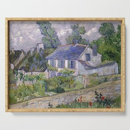 Vincent van Gogh - Houses at Auvers (1890) Serving Tray