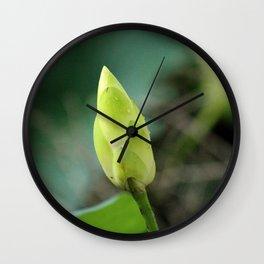 Lotus Bud Wall Clock