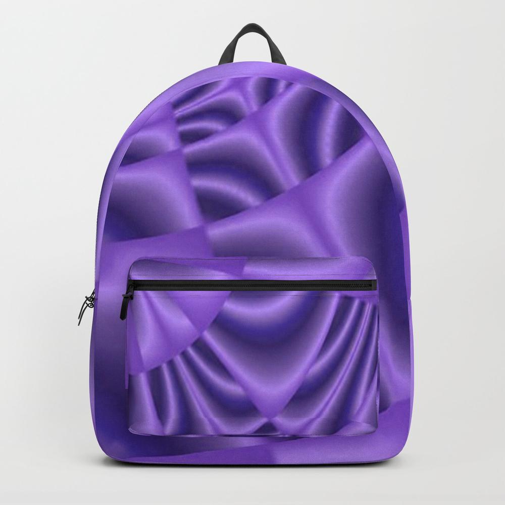 Purple Satin Backpack by Mariesharp3648 BKP7548227