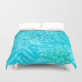 Polynesian Ocean Turqoise Jungle Print Duvet Cover