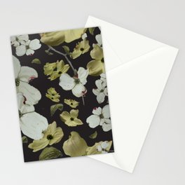 Dogwood Pedals on Black Stationery Cards