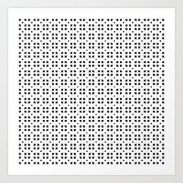 Floral Pattern (Black) Art Print