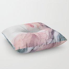 Blush and Blue Dream 1: Original painting Floor Pillow