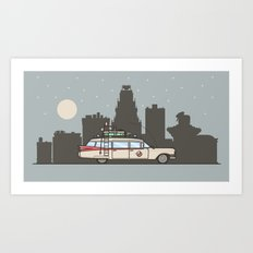 Ghostbusters Ecto-1 Art Print