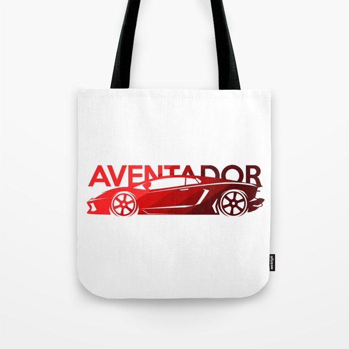 Lamborghini Aventador - classic red - Tote Bag