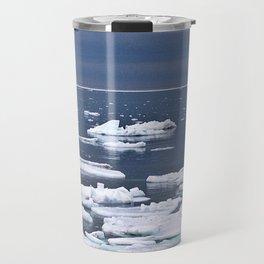Icebergs on a Calm Sea Travel Mug