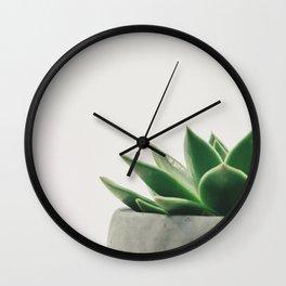 Minimal Cactus - Cacti Photography Wall Clock