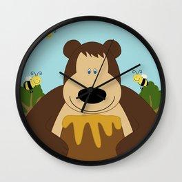 I ♥ honey Wall Clock
