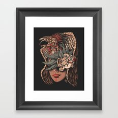 Aztec Eagle Warrior Framed Art Print