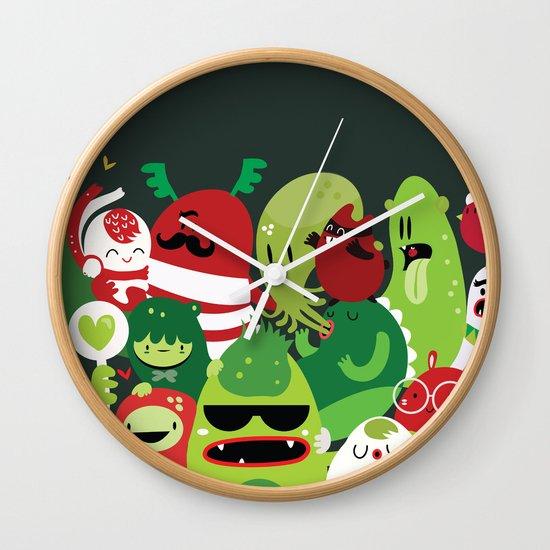 Xmas monsters Wall Clock
