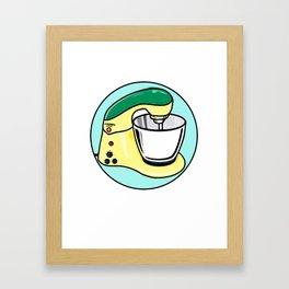 COOKING MIXER 1 Framed Art Print
