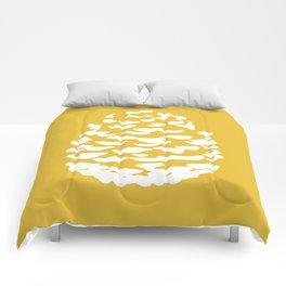 Pinecone Mustard Yellow Comforters
