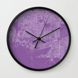 Phoenix map lilac Wall Clock