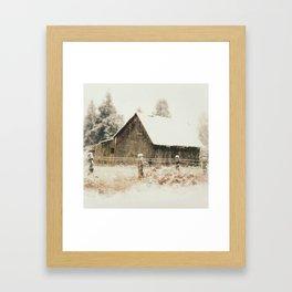 Rustic Winter Framed Art Print