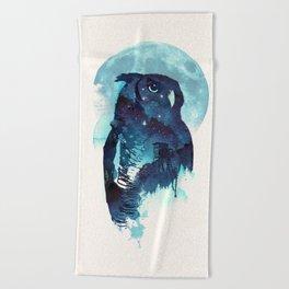Midnight Owl Beach Towel