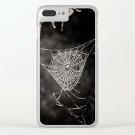 SPIDERWEB IN TREE Clear iPhone Case