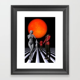 when they meet -1- Framed Art Print