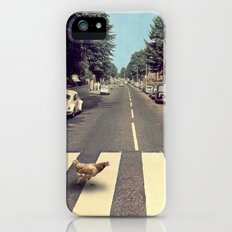 Why did the chicken cross THE road? iPhone (5, 5s) Slim Case