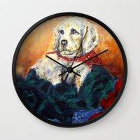 elmo Wall Clocks featuring Sassy Girl by Thom Lupari