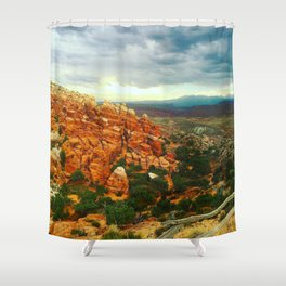 Fiery Furnace Overlook Shower Curtain