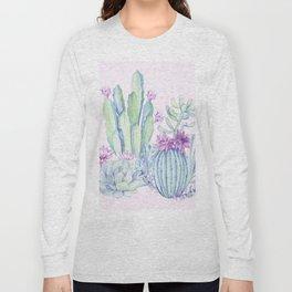 Mixed Cacti Pink #society6 #buyart Long Sleeve T-shirt