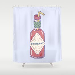 Hot Sauce Therapy Shower Curtain