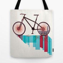 Discover Hong Kong Bicycle Tote Bag