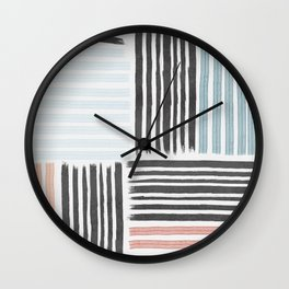 Different line strokes Wall Clock