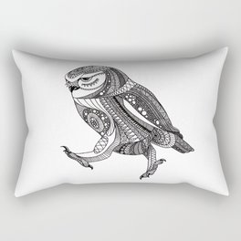 Keep on moving ornate owl Rectangular Pillow
