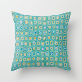Yellow Blue Throw Pillow