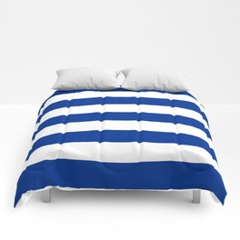 Air Force blue (USAF) -  solid color - white stripes pattern Comforters
