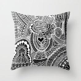 Love Doodle Throw Pillow