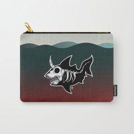 Dark Unicorn Shark Skeleton Carry-All Pouch