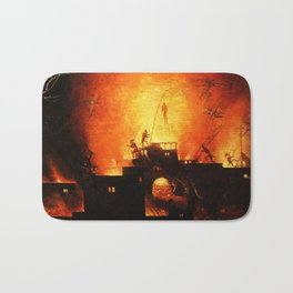 The flaming infurno Bath Mat