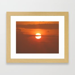 sunset4 Framed Art Print
